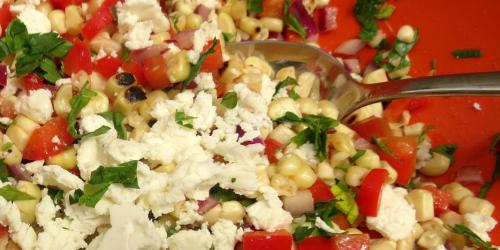 Grilled Corn Salad With FetaBrokeAss Gourmet